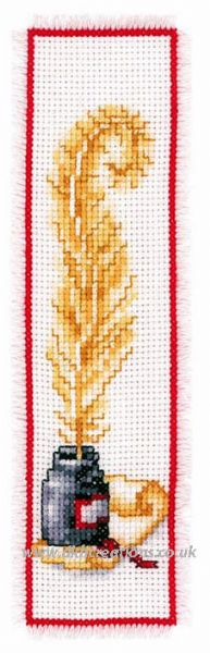 Ink and Quill Bookmark Cross Stitch Kit